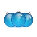 Blaue Weihnachtsbälle Lizenzfreies Stockbild