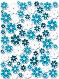 Blaue Weihnachtsblumen Lizenzfreies Stockbild