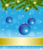 Blaue Weihnachtsdekorationen Stockfoto