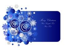 Blaue Weihnachtsfahne Stockfoto