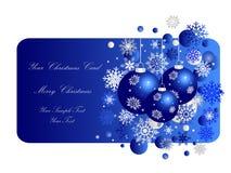 Blaue Weihnachtsfahne Lizenzfreie Stockfotos