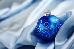 Blaue Weihnachtskarte Stockbilder