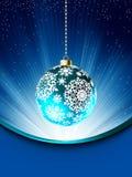 Blaue Weihnachtskartenschablone. ENV 8 Lizenzfreies Stockbild