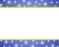Blaue Weihnachtsschnee-Ränder Stockfotos