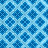 Blaue Weinlese-nahtloses Muster Stockbilder