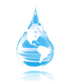 blaue Welt Stockfoto