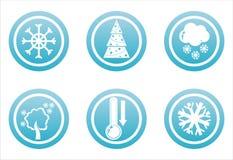 Blaue Winterzeichen lizenzfreie abbildung