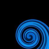 Blaue wirbelnde Zeilen Stockfoto