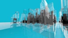Blaue Wireframe-movemen Architektur-Kreativitäts-Konzepte vektor abbildung