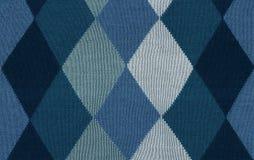 Blaue woolen Diamanten Lizenzfreie Stockfotos