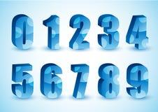 Blaue Zahlen 3D   Stockbild