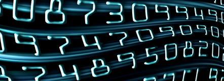Blaue Zahlen Lizenzfreies Stockfoto