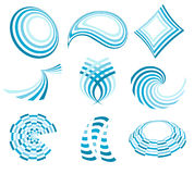 Blaue Zeichenansammlung Stockfotos