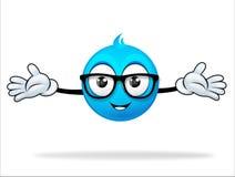 Blaue Zeichentrickfilm-Figur Stockfotografie