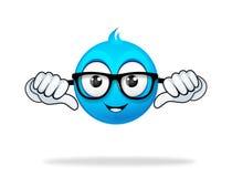 Blaue Zeichentrickfilm-Figur Lizenzfreie Stockbilder