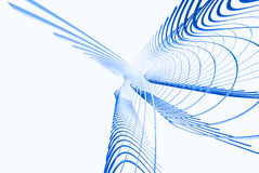 blaue Zeilen 3d Stockfoto