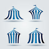 Blaue Zirkuszelte lizenzfreie abbildung