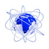 Blaue zukünftige Afrika-Kugel 3d vektor abbildung