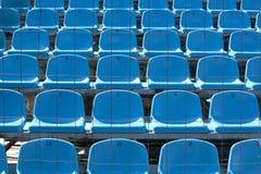 Blaue Zuschauertribünen lizenzfreie stockbilder