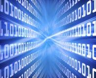 Blauenergie des binären Codes Stockfoto