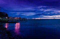 Blauer Abend nach Sonnenuntergang Lizenzfreies Stockfoto