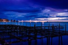 Blauer Abend nach Sonnenuntergang Stockfotografie