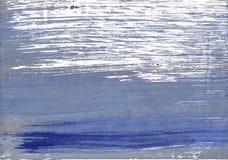 Blauer abstrakter Aquarellhintergrund des Schattens Stockbilder