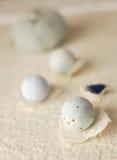Blauer abstrakter Badekurort stockfotografie