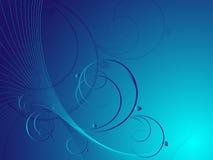 Blauer abstrakter Blumenvektor vektor abbildung