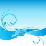 Blauer abstrakter Blumenvektorhintergrund lizenzfreie abbildung