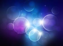 Blauer abstrakter Bokeh Hintergrund Stockfoto