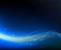 Blauer abstrakter Fantasiehintergrund Stockfoto