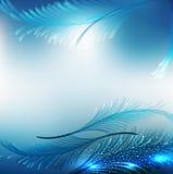 Blauer abstrakter festlicher Hintergrund des Vektors Stockfoto