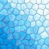 Blauer abstrakter geometrischer Hintergrund Stockfotografie