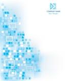 Blauer abstrakter Geschäftshintergrund Stockfotos
