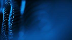 Blauer abstrakter gewellter Hintergrund-nahtlose Schleife stock footage