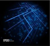 Blauer abstrakter glühender Hintergrund Stockfoto