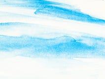 Blauer abstrakter handgemalter Aquarellhintergrund der kreativen Kunst Lizenzfreie Stockfotografie