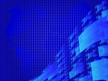 Blauer abstrakter Hintergrund Lizenzfreies Stockbild