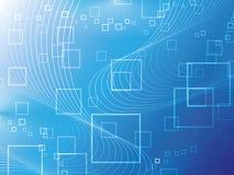 Blauer abstrakter Hintergrund Stockfoto