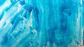 Blauer abstrakter Hintergrund des handgemalten Acryls stockbilder