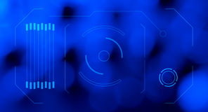 Blauer abstrakter Hintergrund HUD-Hologramms Lizenzfreie Stockfotos