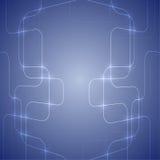 Blauer abstrakter Hintergrund mit glühendem Licht Lizenzfreie Stockbilder
