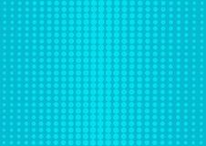 Blauer abstrakter Hintergrund mit Halbtonpunkten in der Pop-Arten-Art Vektor lizenzfreie abbildung