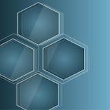 Blauer abstrakter Hintergrund in techno Art Lizenzfreies Stockbild
