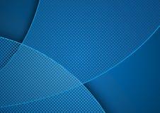 Blauer abstrakter Hintergrund und Schachbrettmuster Lizenzfreies Stockbild