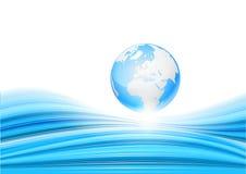 Blauer abstrakter Hintergrund Vektor Lizenzfreies Stockbild