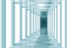 Blauer abstrakter Innenraum Vektor Abbildung