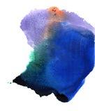 Blauer abstrakter Kreis auf dem weißen Hintergrund Stockbilder