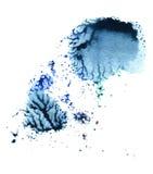 Blauer abstrakter Kreis auf dem weißen Hintergrund Lizenzfreie Stockfotografie